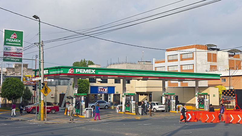 Pemex station near Basilica of Our Lady of Guadalupe Basilica Mexico City